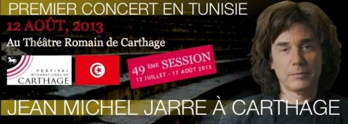 Carthage, jean michel jarre,concert,2013