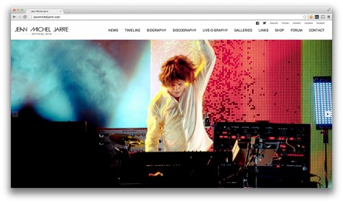 Jean michel jarre,site officiel