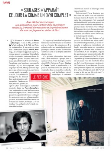 Pierre soulages,2013,jean michel jarre,vanity fair