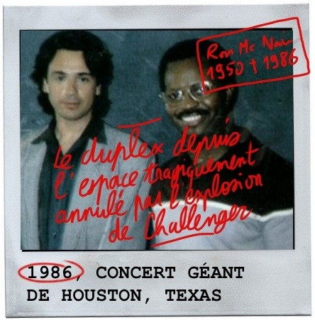 Ron mac nair, jean michel jarre, houston, 1986,nasa