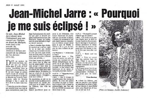 1991,jean michel jarre,le parisien,mexique,la défense