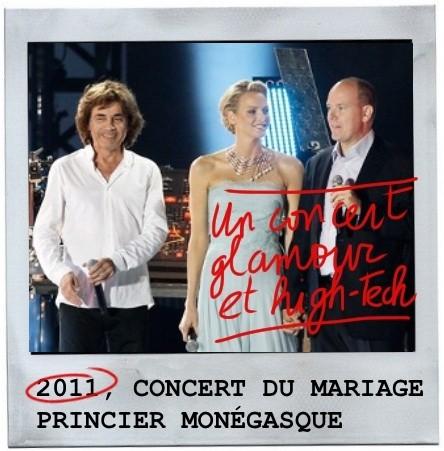 Monaco, jean michel jarre, albert et charlène,2011,concert géant