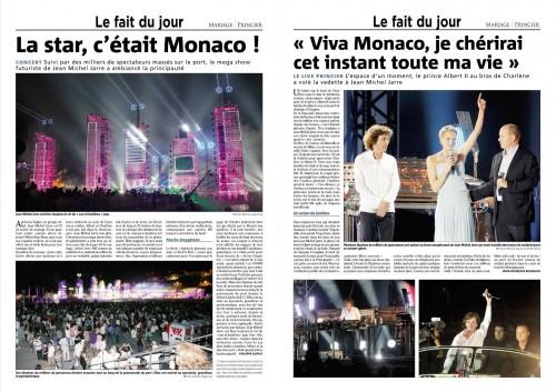 Coupure presse,2011,monaco,prince albert,concert en extérieur