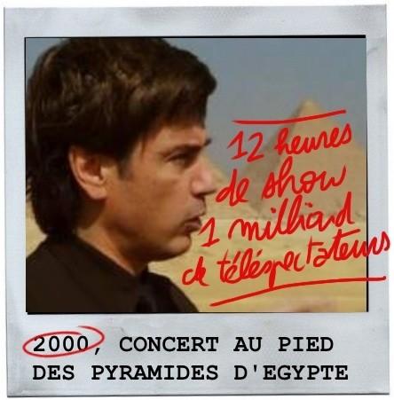 Pyramides d'égypte, concert, jean michel jarre,2000