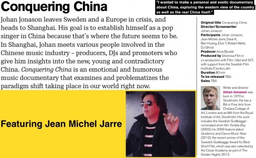 Conquering china,jean Michel jarre,2014