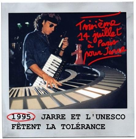 Tour eiffel, concert pour la tolérance,1995,jean michel jarre