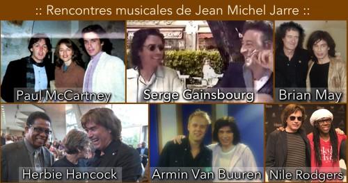 Jean Michel Jarre, Serge Gainsbourg,Herbie Hancock, Paul mcCartney,Armin van Buuren,Brian May,Nile Rodgers